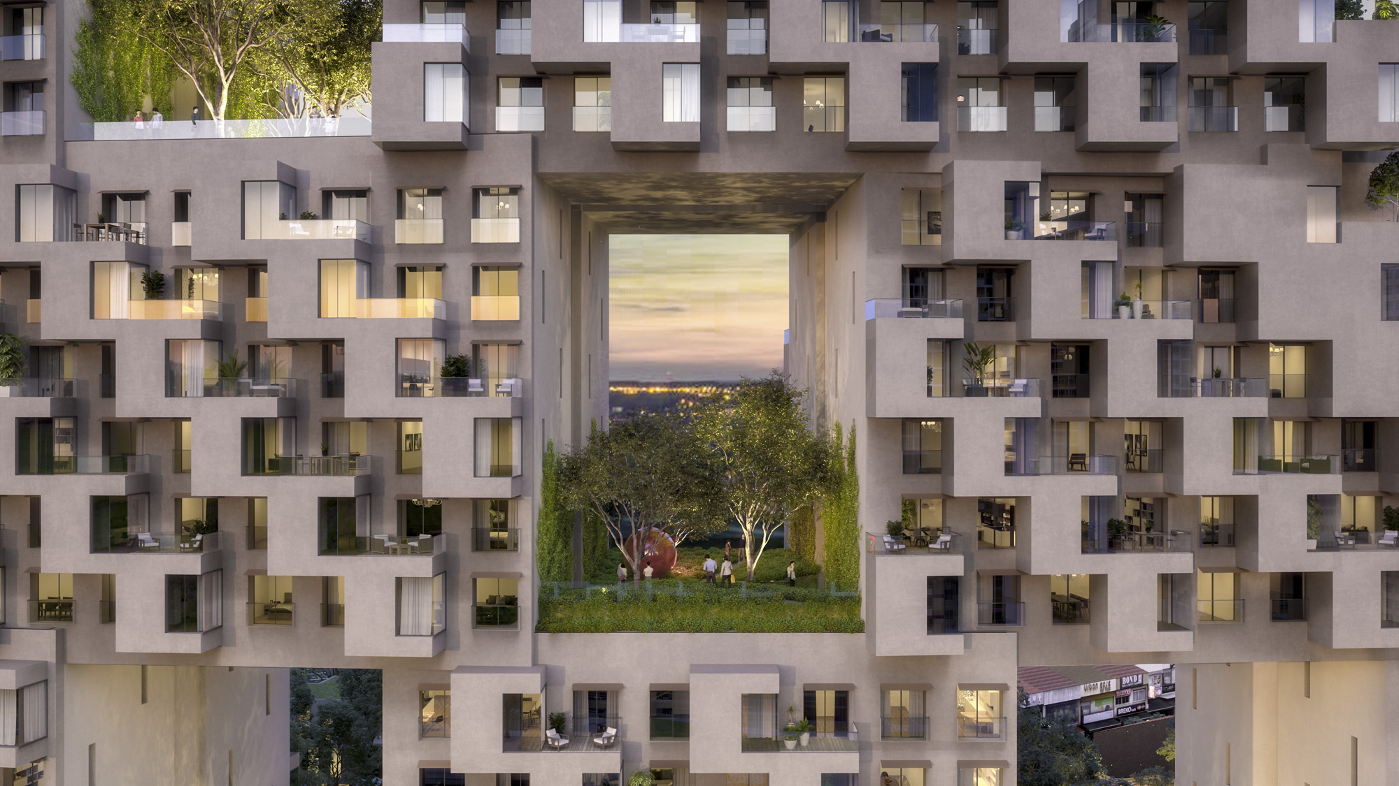 Architectural Design Of Residential Building Safdie Architects