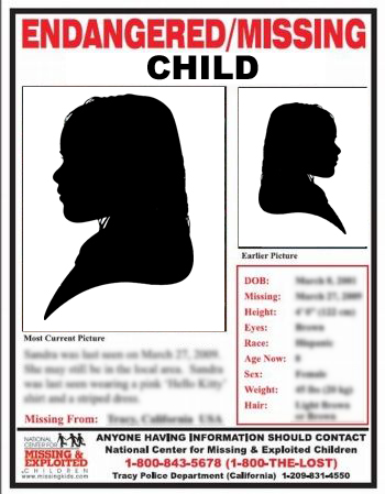 Missing Children Poster Template