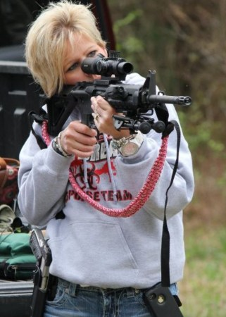 Instructor Mary Brannon with her AR-15
