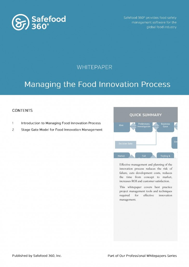 Safefood 360° White papers - White Paper Pdf