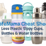 Cheat Sheet: Less Plastic Sippy Cups, Bottles & Water Bottles