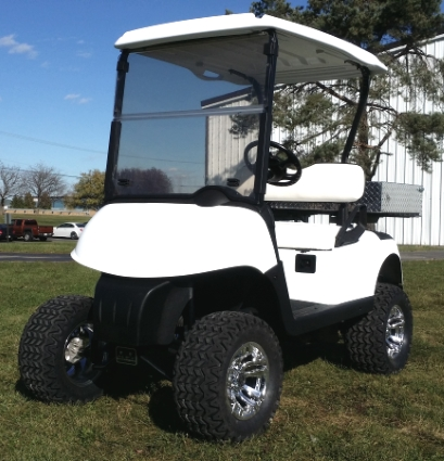 EZ-GO Gas Golf Cart RXV Lifted 13 hp Kawasaki With Utility Bed