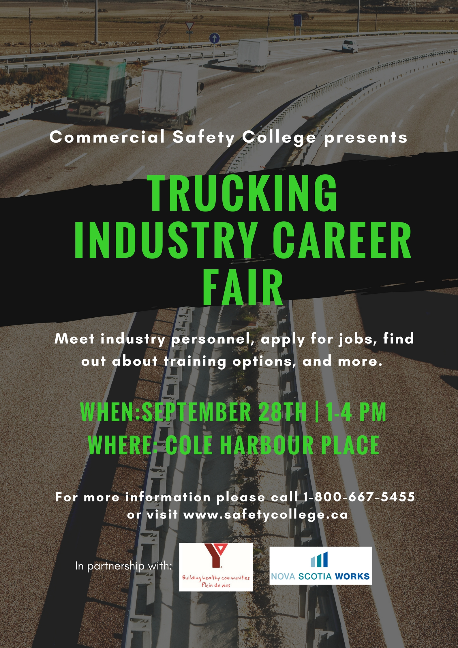 Career Trucking Trucking Industry Career Fair Poster Commercial Safety College