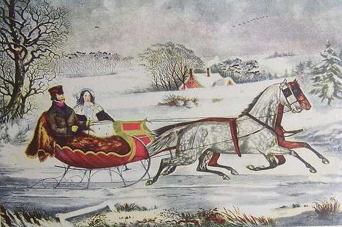 Currier And Ives Christmas Snow