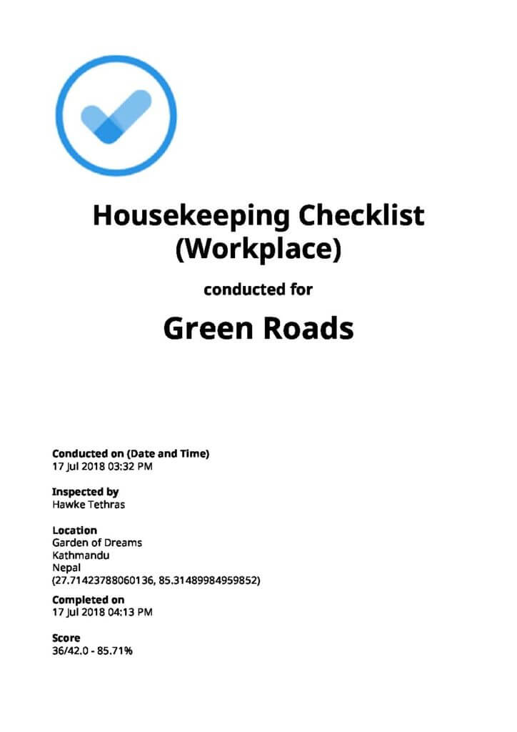 Workplace Housekeeping Checklist Top 6 Free Download