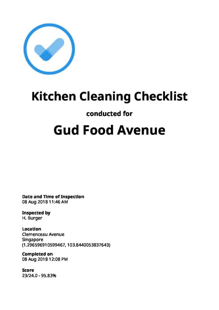 Restaurant Cleaning Checklists Top 6 Free Download