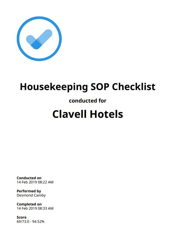 Housekeeping SOP Checklists Top 6 Free Download