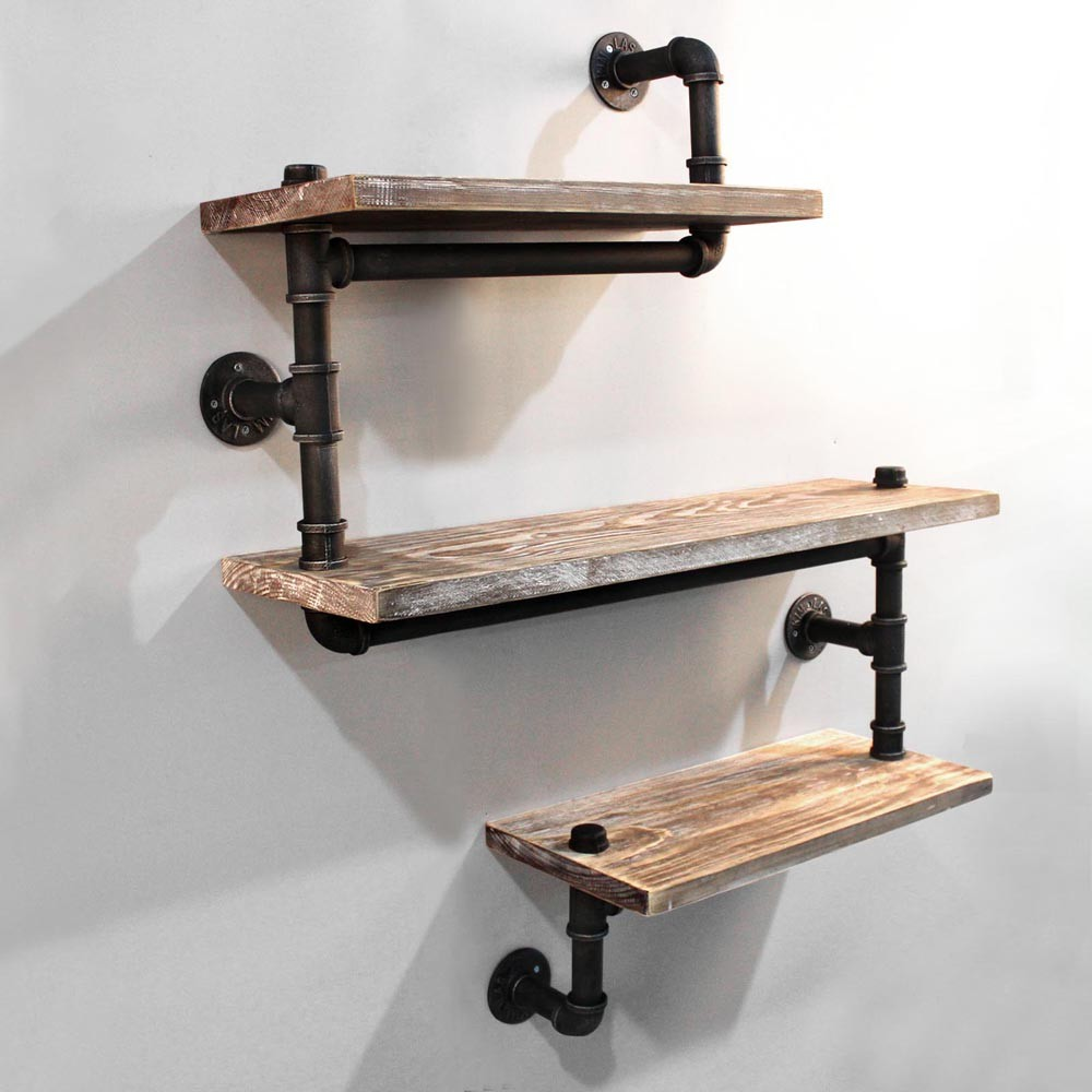 Diy Paletten Couchtisch Shelving Three Level Snake Design Industrial Pipe Rustic