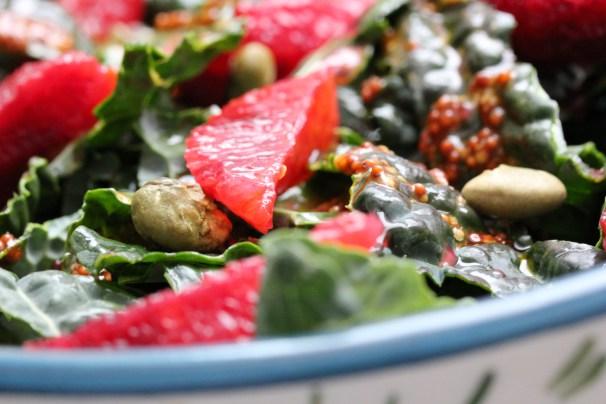 kale blood orange salad