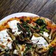 Simple suppers: mushroom and ricotta pizza
