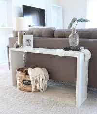 DIY Wood Console Table - Saffron Avenue