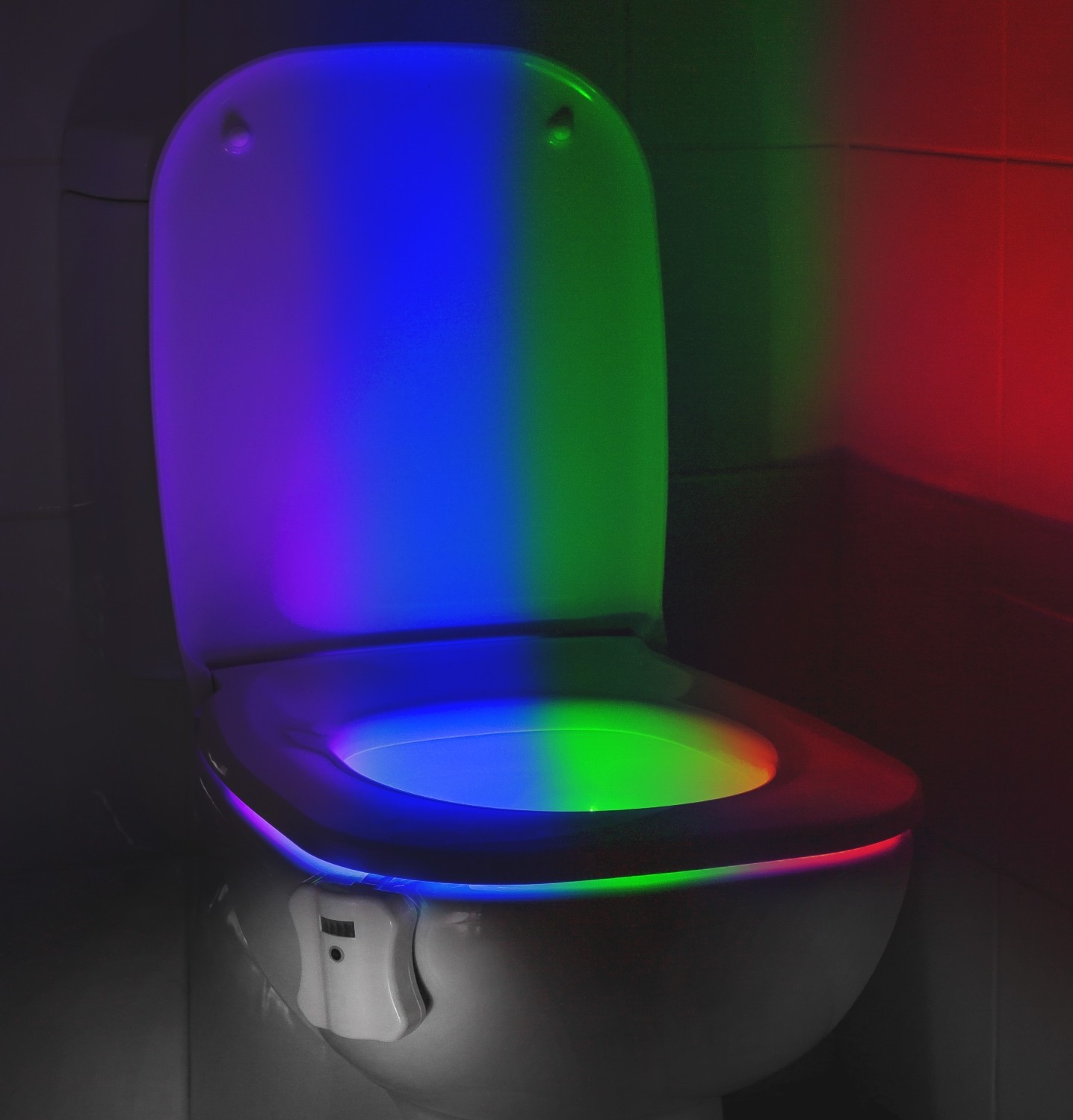 Led Night Lite Auraglow Led Motion Activated Toilet Bowl Night Light
