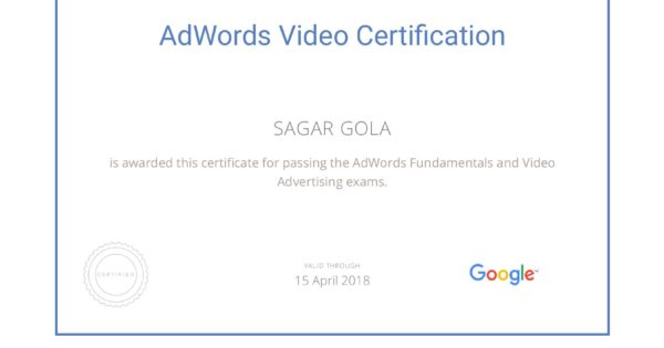 Google AdWords Video Advertising Exam Question & Answers Sheet