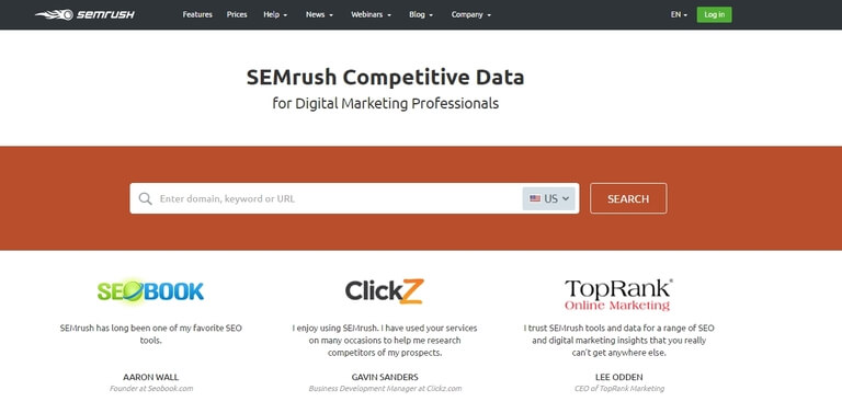 SEMRush WordPress Plugin