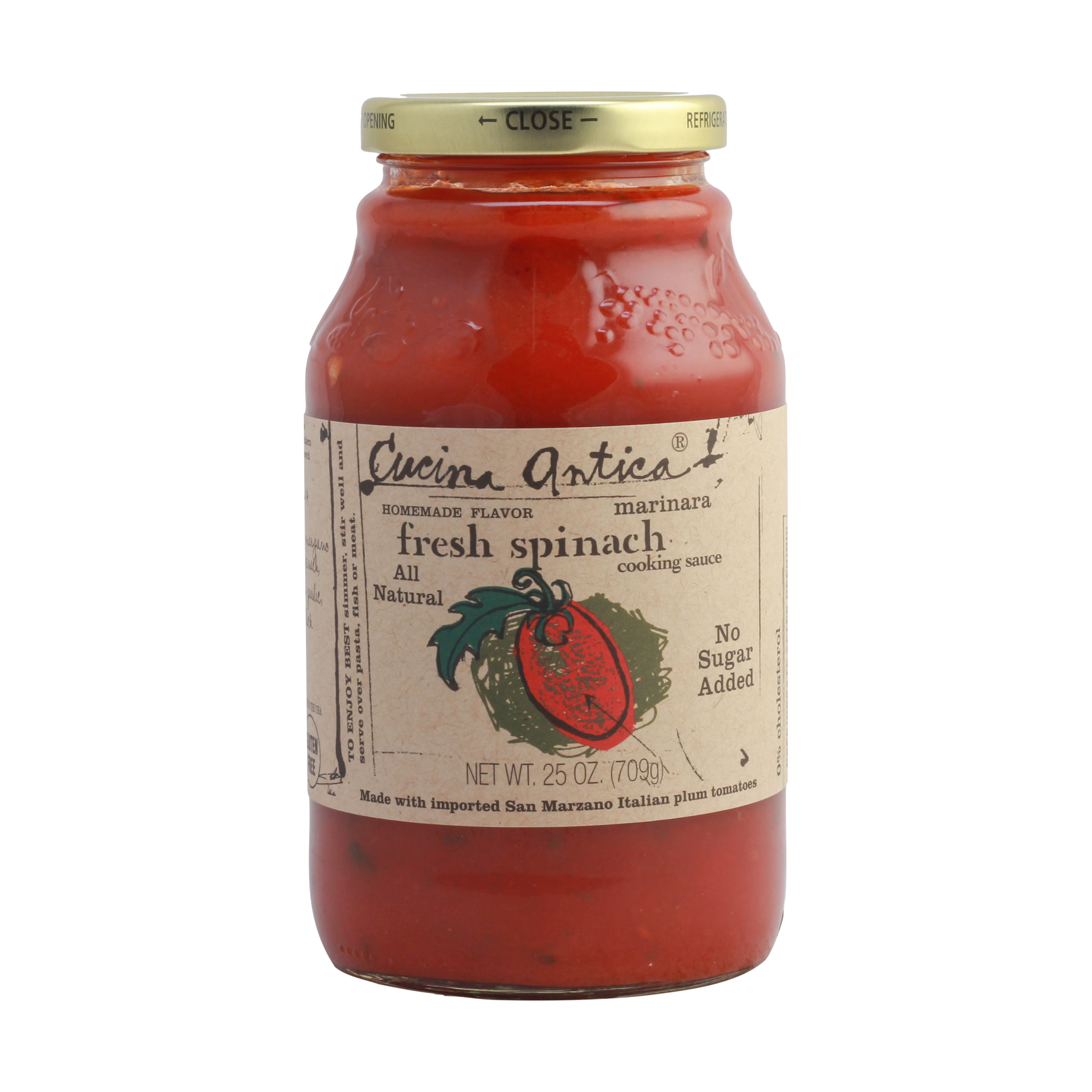 Cucina Antica Tomato Basil Whole Foods Fresh Spinach Cooking Sauce 25 Oz Cucina Antica Whole Foods Market