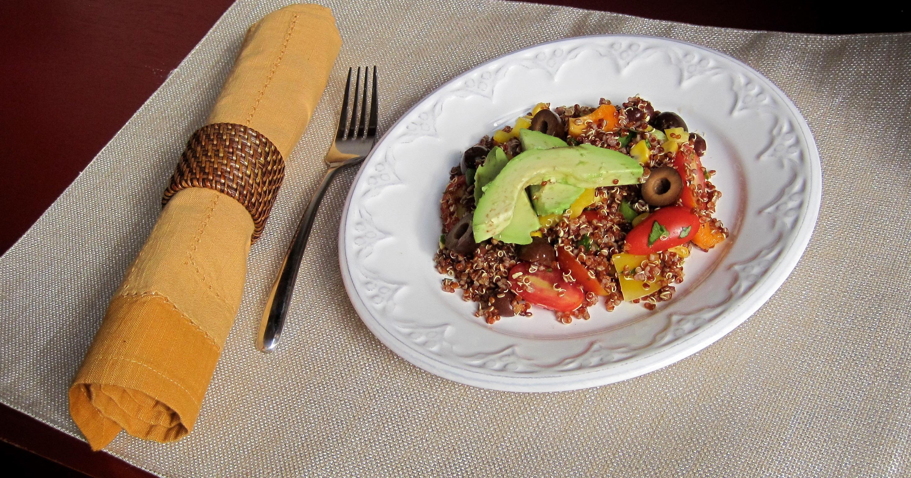 Black Bean Quinoa Plated