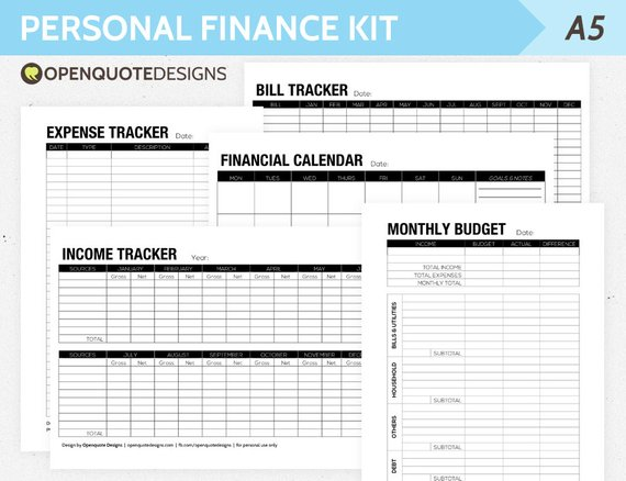 Personal finance trackers Personal Financial Planning and Analysis