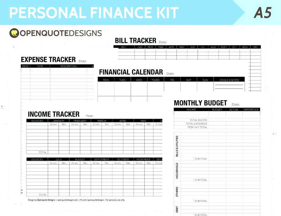 Personal finance budget template Personal Financial Planning and