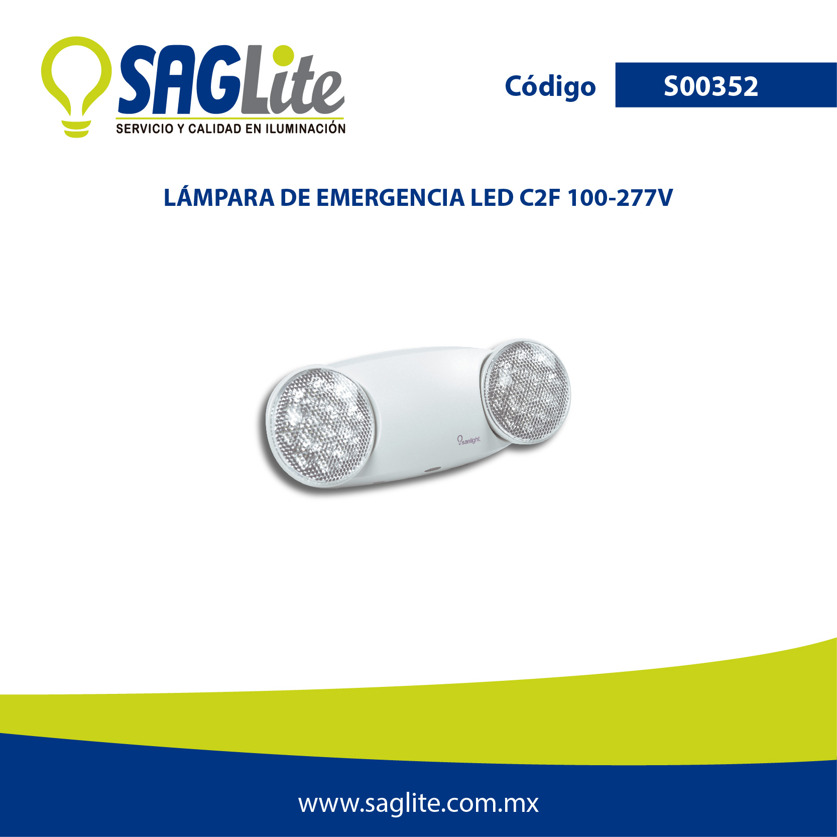 Lamparas De Emergencia Led Lampara Emergencia Led R2f 100 277v Saglite Saglite