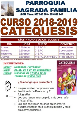 Calendario CATEQUESIS