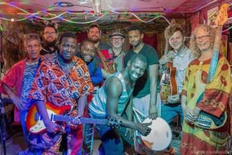 Zoumountchi, Africa Night's house band, led by Ibrahim Aminou.