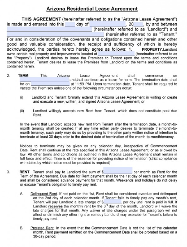 Apartment Rental Agreement - Said Apartment