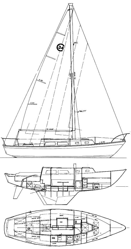 wiring diagram cal 34 sailboat