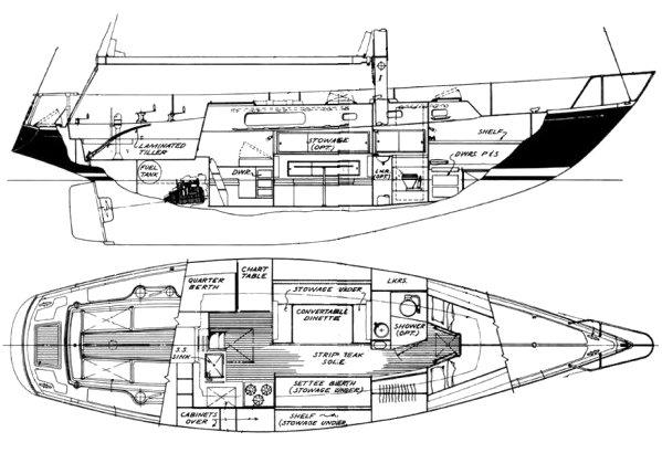 morgan 41 sailboat diagram