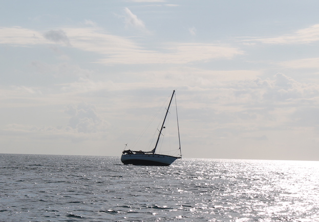Boat on reef