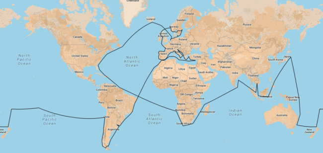 This is what our route might look like