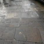 Camino de Santiago or St James shell route marker