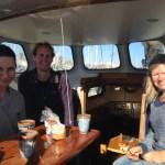 Sunny coffee with Sacha and Annemiek