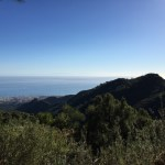 """View from the mountains on Marbella (and """"Hercules' Pillars"""" on the horizon)"""