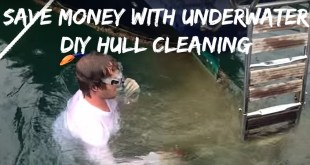 Boat Owners: Save money with underwater DIY hull cleaning. VIDEO