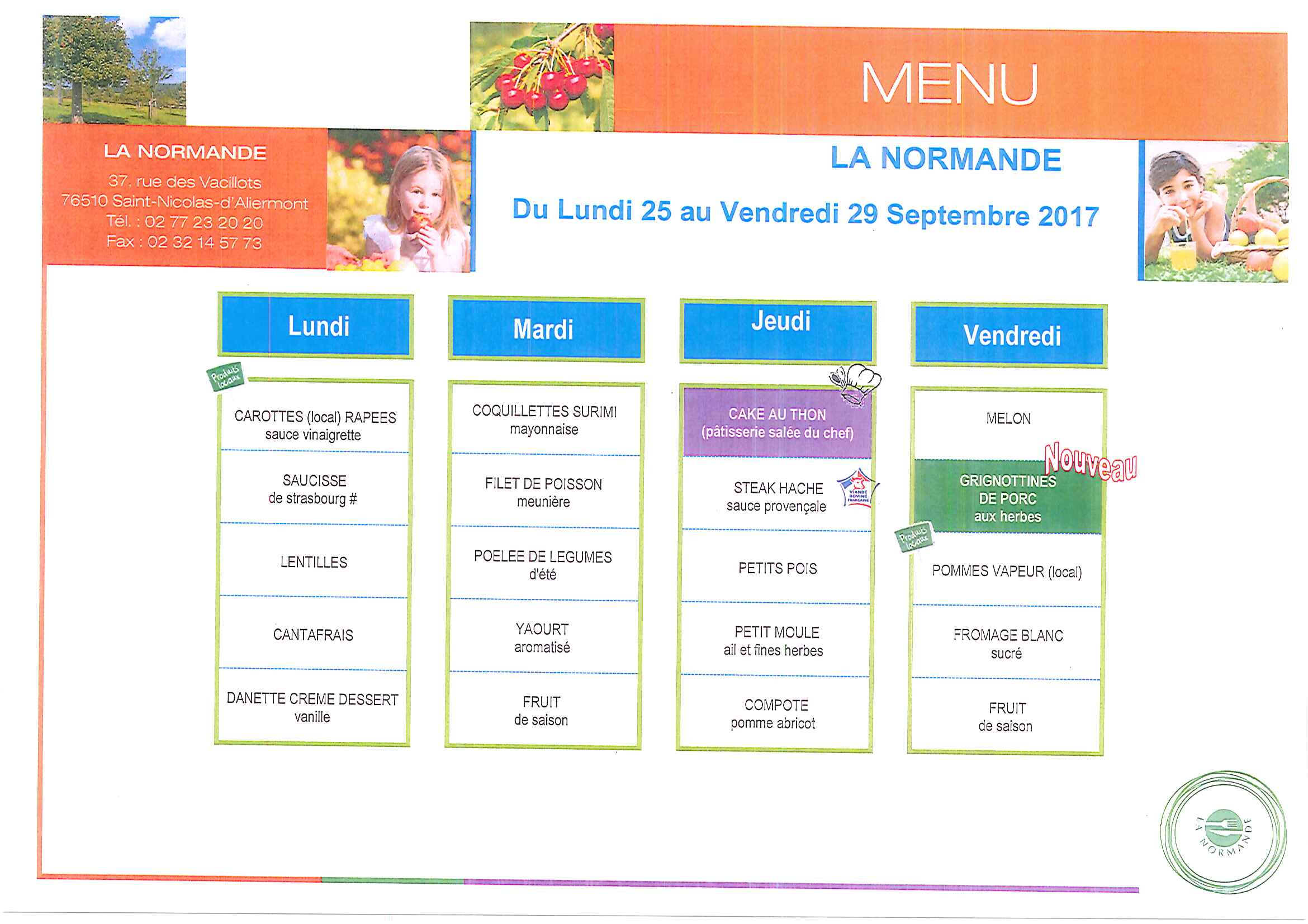 Chantemur Dieppe Menu 25 29 Sept Mairie De Saint Aubin Sur Scie Village
