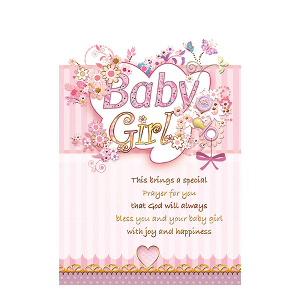 Card - Baby Congratulations - Girl - Saint Anthony Stores