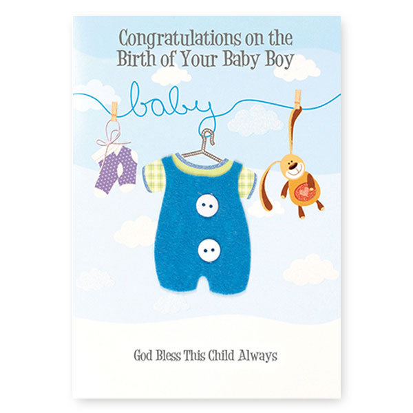 Card - Baby Congratulations - 3D - Saint Anthony Stores - Communion