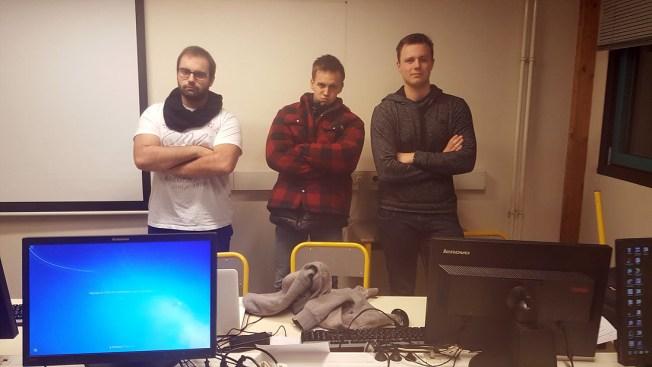 De gauche à droite : Florian Petit, Louis Valentin, Lucas Megel.