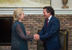 Augie Ribiero with Hillary Clinton