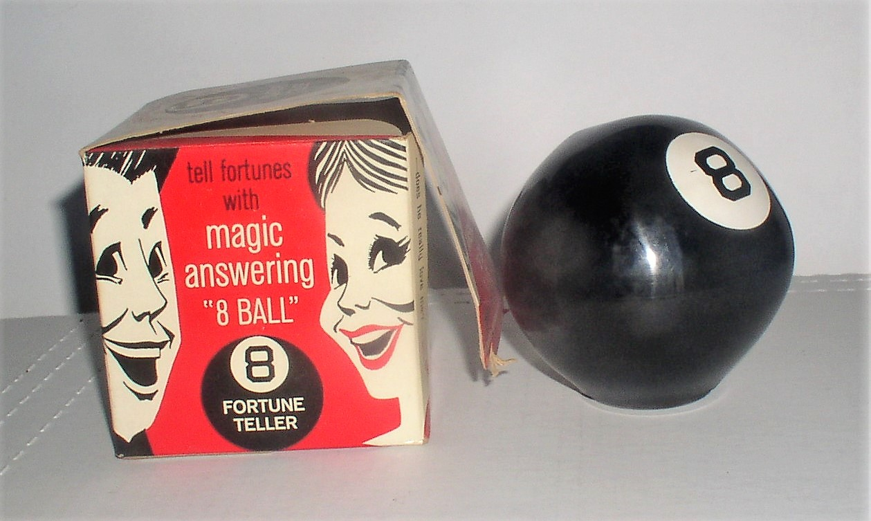Vintage 8 Vintage Magic 8 Ball Alabe Crafts Inc With Original Box