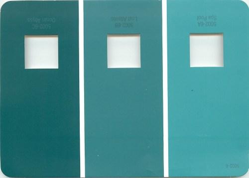 Medium Of Tiffany Blue Paint