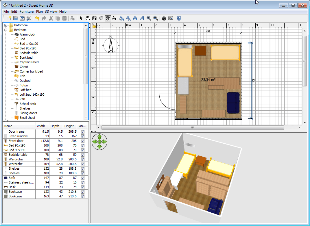 Sweet Home 3d Sweet Home 3d Tool For Designing House Floor Plan And Arranging