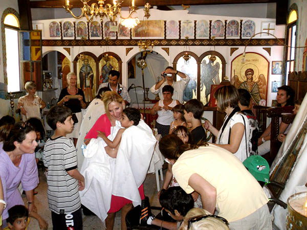 Volunteers and children at church in PIPKA