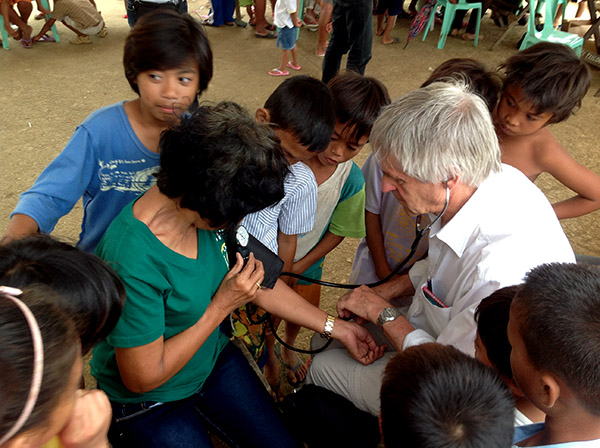 Patient receives medical check at Biliran medical camp