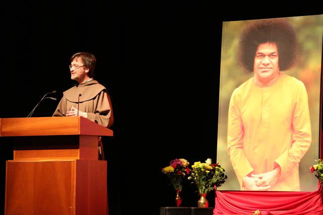 Speaker at multi-faith gathering