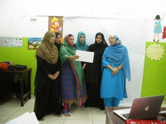 Group acitivity during EHV training in Oman