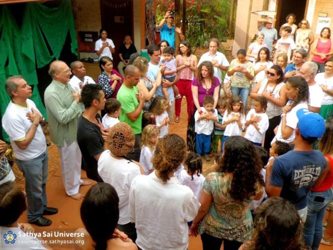 Celebrating tenth anniversary of Sathya Sai School at Minas Gerais