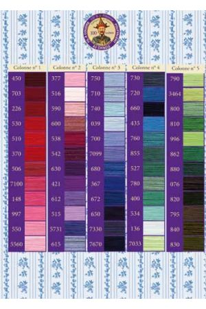 Fil Au Chinois polyester sewing thread colour chart