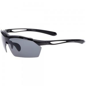 8.ellesse(エレッセ) スポーツサングラス あらゆるシーンに対応できる5枚の交換レンズ付き 男女兼用 偏光サングラス ブラック ES-S104 UV99.9%カット ES-S104 ブラック