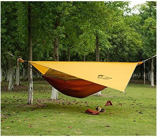 1.NatureHike 1人キャンプハンモック超軽量アウトドアテント野外ポータブルぶら下がりテントベッド